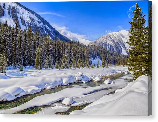 Wintery Numa Creek Canvas Print