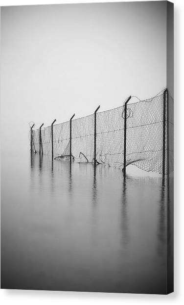 Gates Canvas Print - Wire Mesh Fence by Joana Kruse