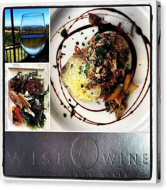 Winery Canvas Print - #wisewinery For Lunch, Never Get Tired by Emma Green