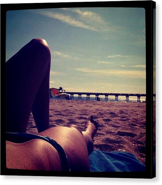 Legs Canvas Print - Wish My Whole Day Was Going To Spent by Emily W