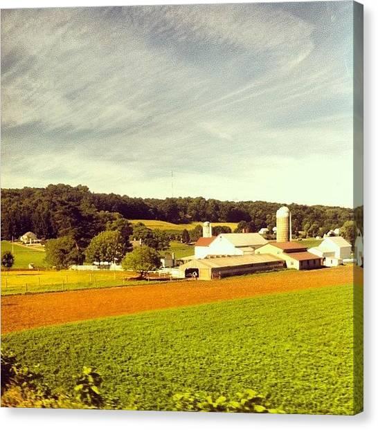 Pennsylvania Canvas Print - Wispy Clouds.  by Jordan Roberts