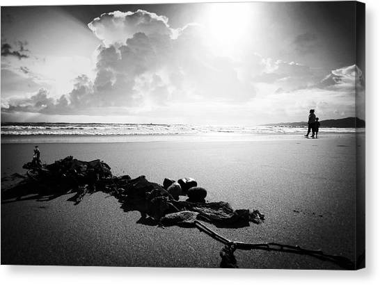 With Mother Canvas Print