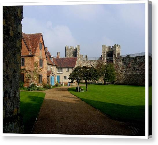Within The Castle Walls Canvas Print by Frank Wickham