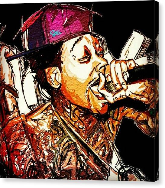 Hip Hop Canvas Print - Wiz Khalifa by Josh Lang
