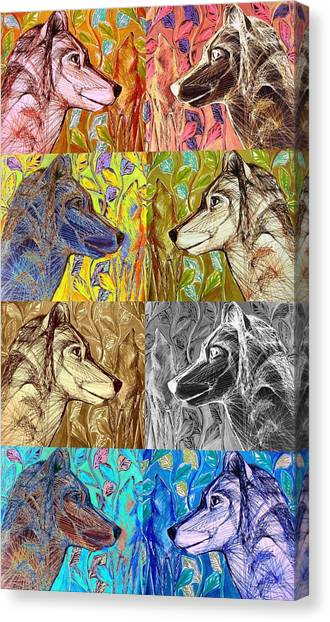 Wolf Views Canvas Print
