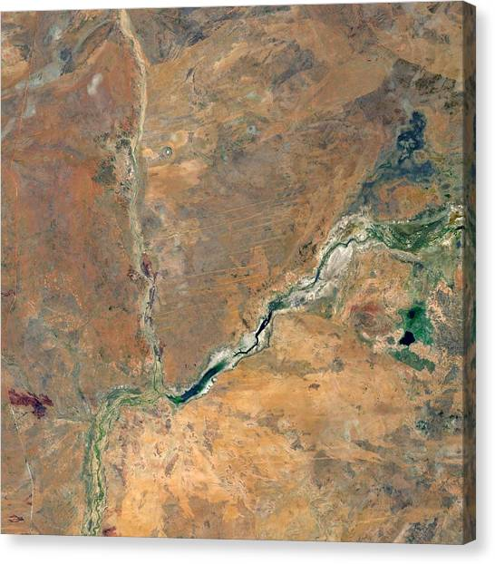 Sandy Desert Canvas Print - Wolfe Creek Crater, Australia by Nasavrs