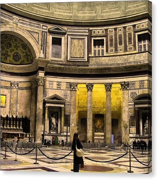 Rome Canvas Print - Woman Enchanted by Juan Jose Rastrollo Torres