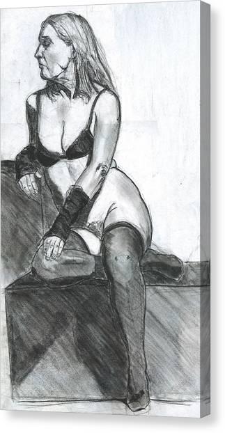Woman Canvas Print by Eric Atkisson