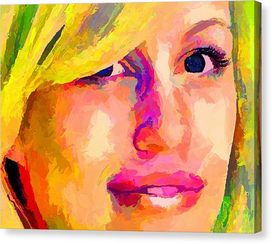 Erotic Framed Canvas Print - Woman Face by Yury Malkov