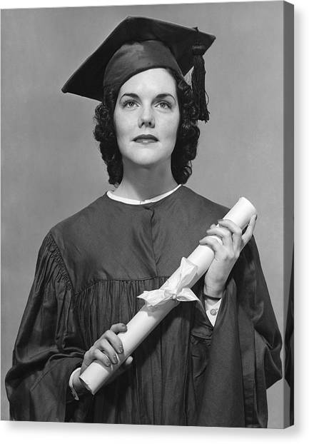 Woman Who Graduated Canvas Print by George Marks