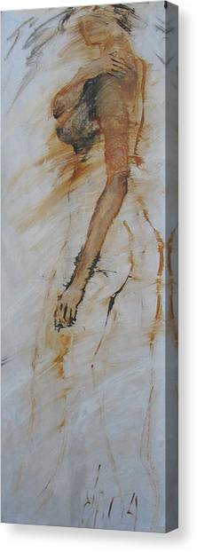 Woman With Hand On Shoulder Canvas Print