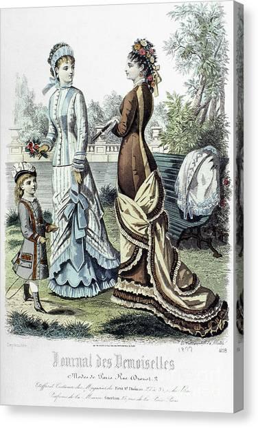 Demoiselles Canvas Print - Womens Fashion, 1877 by Granger