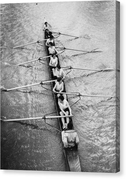 Women's Rowing Canvas Print by William Wanderson