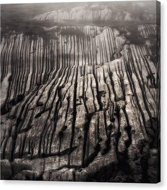 Swiss Canvas Print - Wonder Wall #scene #stones#stillife by Beda MoBe