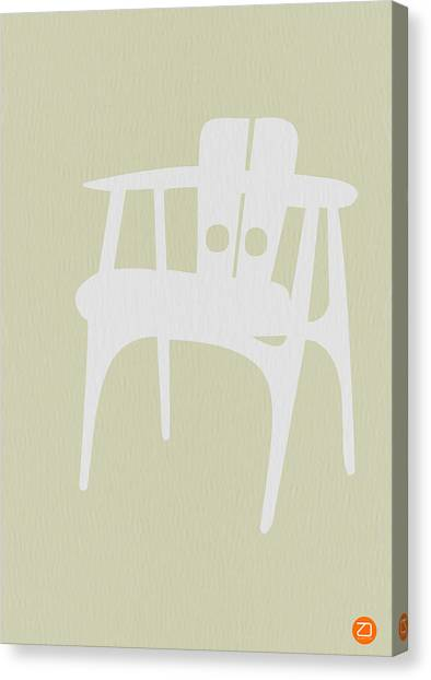 Chairs Canvas Print - Wooden Chair by Naxart Studio
