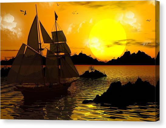 Wooden Ships Canvas Print
