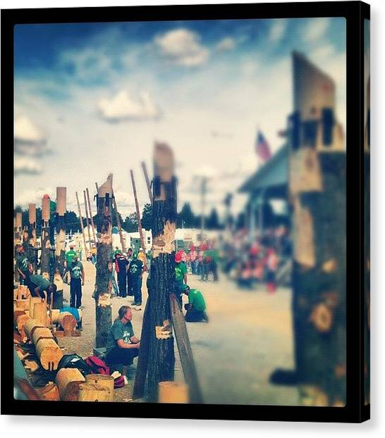 Axes Canvas Print - #woodsmensfielddays #lumberjack #wood by Dylan Ferris