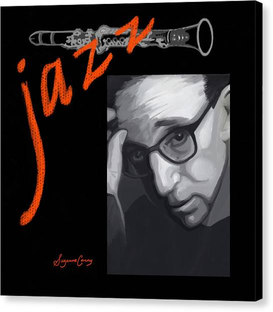 Woody Allen From Wild Man Blues Canvas Print