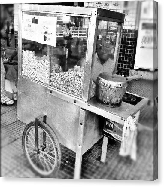Popcorn Canvas Print - Workers On The Streets 1 - The Popcorn by Marcelo Donhsa