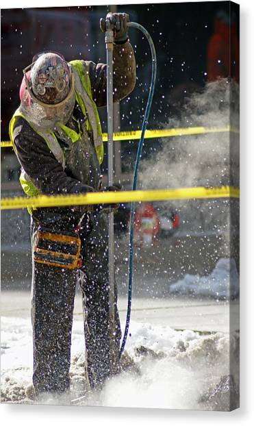 Jackhammers Canvas Print - Working by Off The Beaten Path Photography - Andrew Alexander
