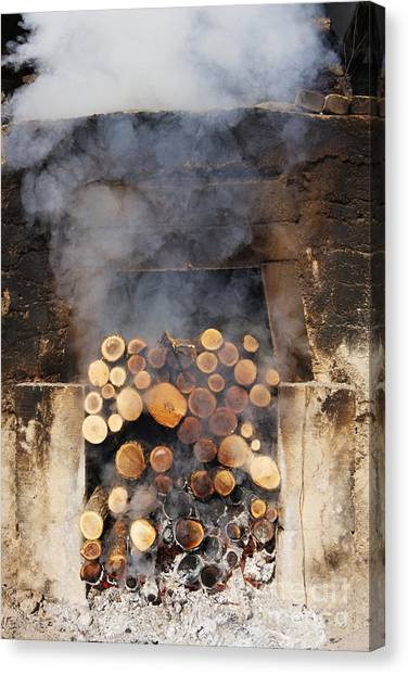 Smokehouses Canvas Print - Working Smokehouse by Jeremy Woodhouse