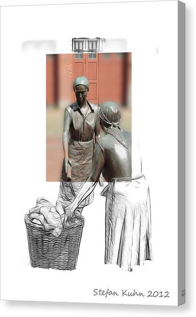 Workers Canvas Print - Working Women Anno 1900 by Steve K