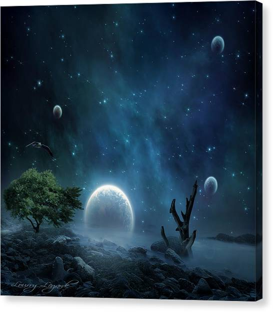 Andromeda Canvas Print - World Beyond by Lourry Legarde