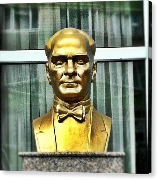 Turkish Canvas Print - World Leader Ataturk by Tunc Dindas