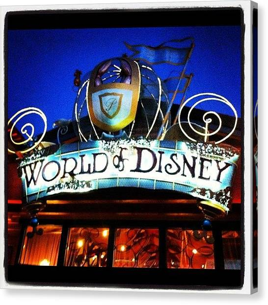 Fantasy Canvas Print - World Of Disney by Lea Ward
