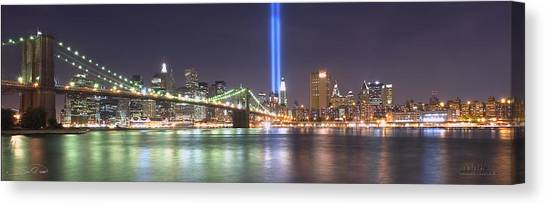 World Trade Center Tribute Lights Canvas Print