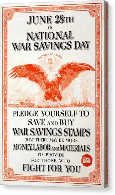 World War I, Poster In The Style Canvas Print by Everett