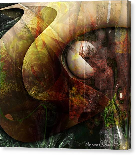 Worm Hole Canvas Print by Monroe Snook