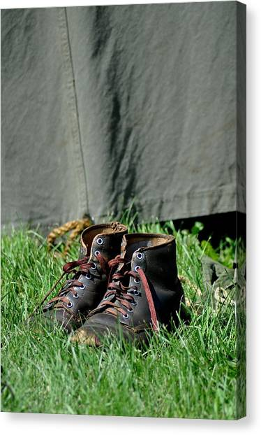 Worn Boots Canvas Print by Rachel Rodgers