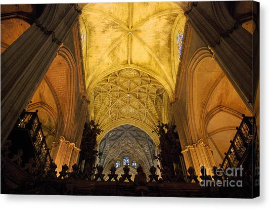 Worship Up Above  Canvas Print by Perry Van Munster