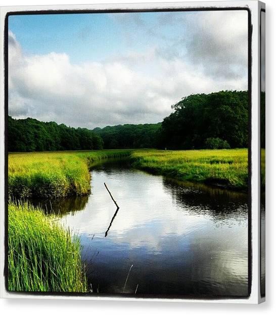 Marshes Canvas Print - Wotton Creek #wotton #creek #sun #water by Jonny Luter