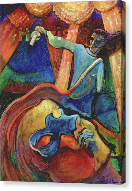 Wounded Prophet Canvas Print by William Sosa