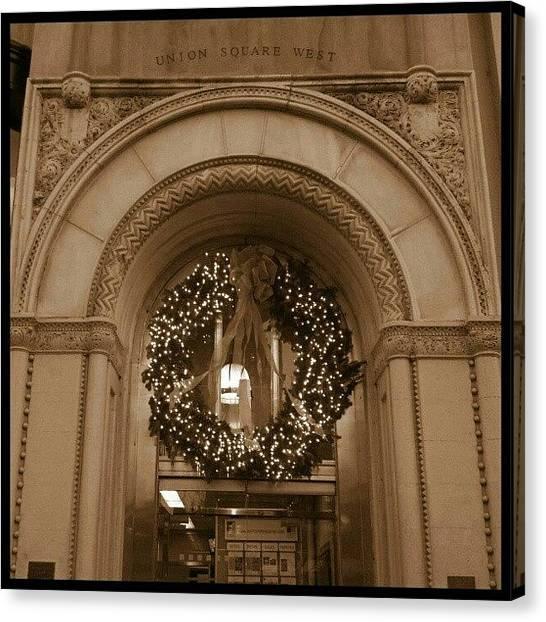 Wreath Canvas Print - #wreath In #sephia by Jamie Huenefeld