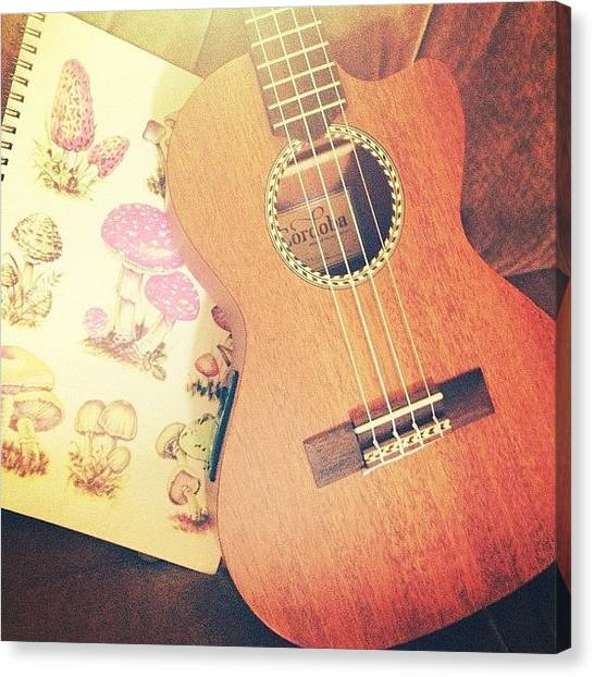 Ukuleles Canvas Print - Writing Today by Claudia Schieve
