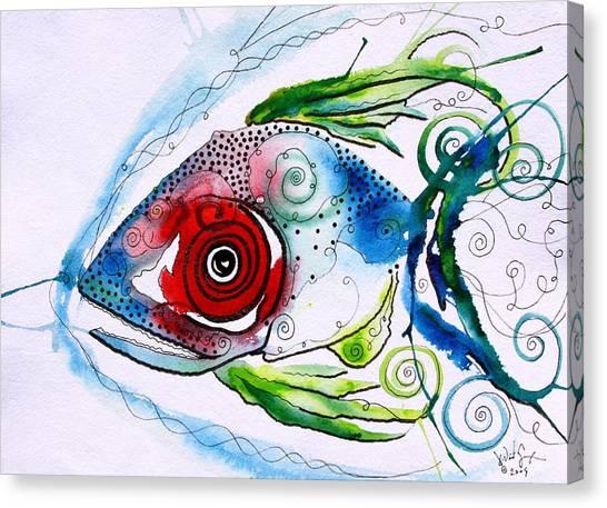 Fish Canvas Print - Wtfish 001 by J Vincent Scarpace