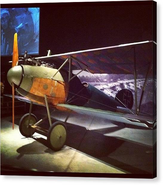 Biplane Canvas Print - Ww1 German Fighter by Brent McGilvary