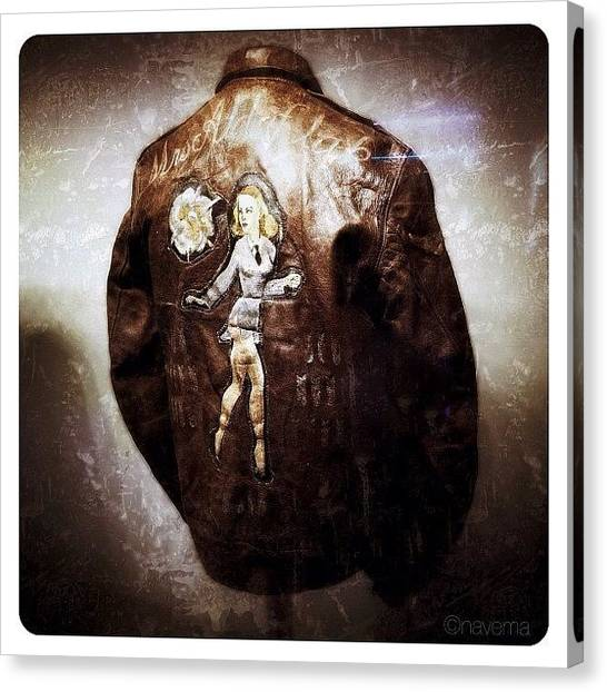 Ohio Canvas Print - Ww2 B-17 Bomber Jacket mrs. Aldaflak by Natasha Marco