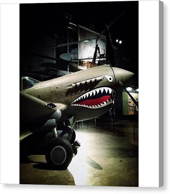 Ohio Canvas Print - Ww2 Curtiss P-40e Warhawk by Natasha Marco