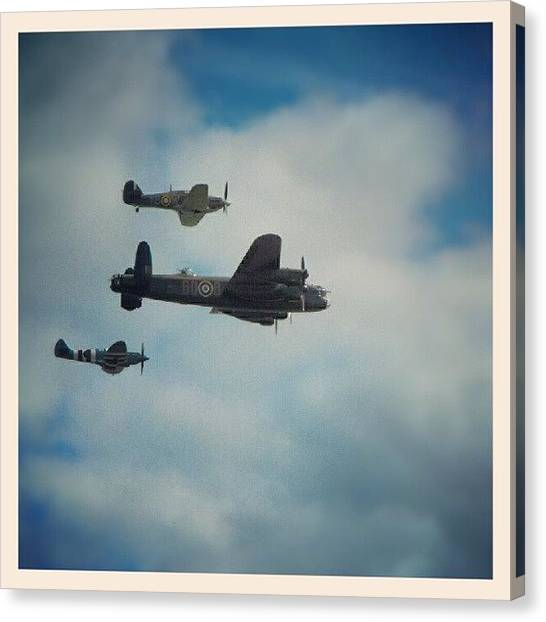 Hurricanes Canvas Print - #wwii #memorial #flight At #cosford by Alexandra Cook