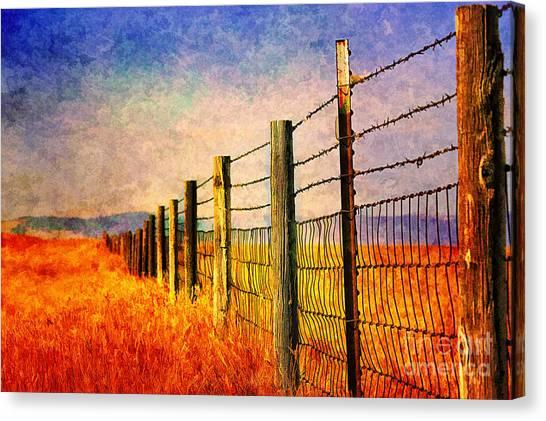 Wyoming Fences Canvas Print