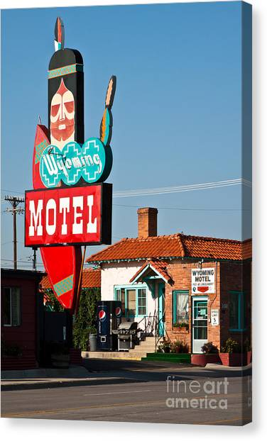 Wyoming Motel Canvas Print