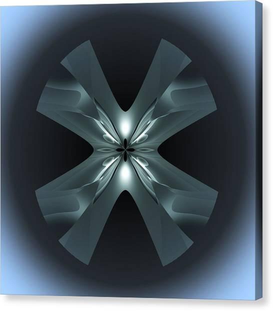 Canvas Print featuring the digital art X Lights by Visual Artist Frank Bonilla