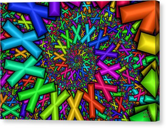 X Marks The Spot  Canvas Print by Manny Lorenzo
