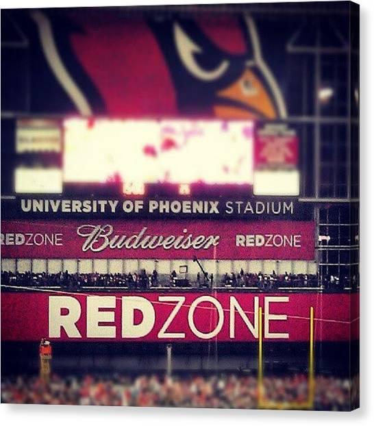 Arizona Cardinals Canvas Print - #x-pro #redzone #cardinals #stadium by Dave Moore