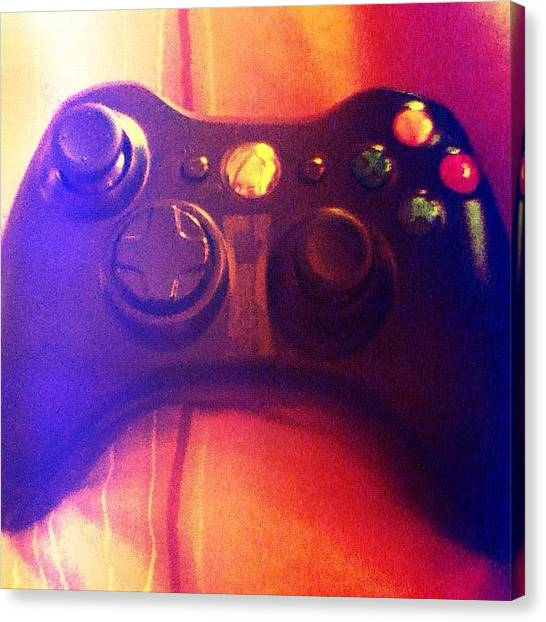 Xbox Canvas Print - #xbox #controller #kinect #halo #cod by Andree Olazaran