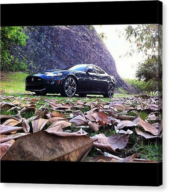 Racing Canvas Print - Xrs #car #jaguar #racing #instagram by Ariana Hernandez